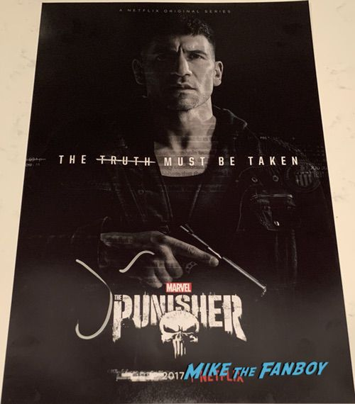 Jon Bernthal signed punisher poster