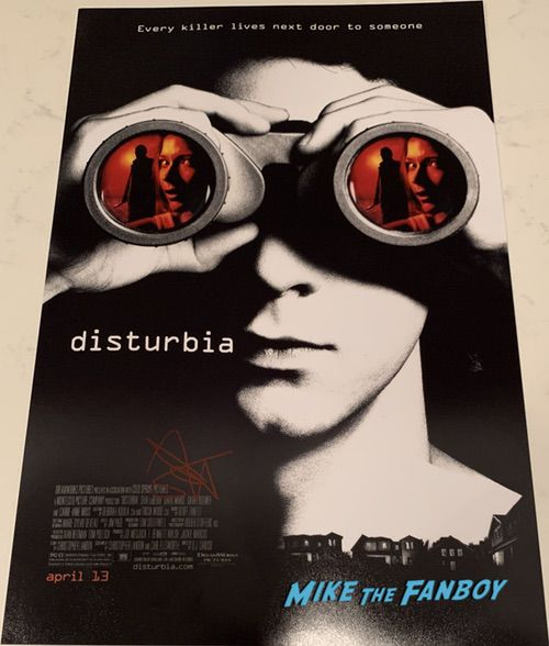 Shia LaBeouf signed Disturbia poster