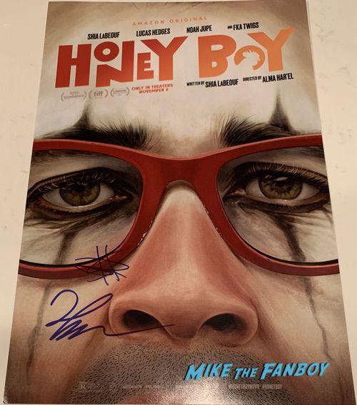 Shia LaBeouf signed Honey boy poster