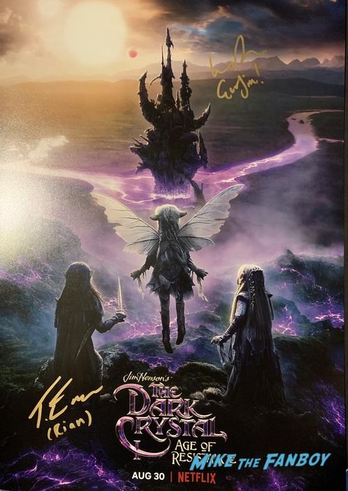 Taron Egerton signed autograph dark crystal