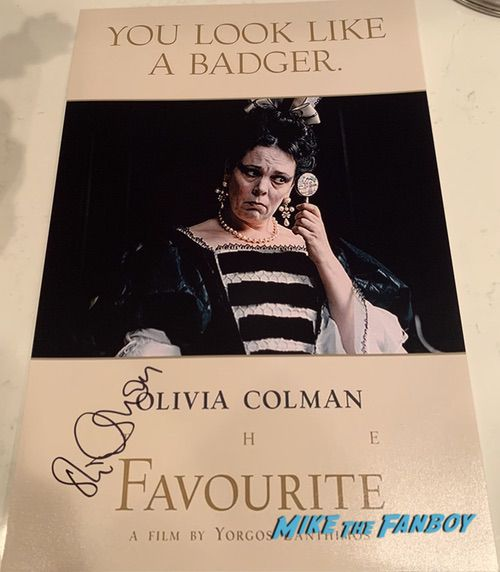 olivia coleman signed autograph the favourite poster