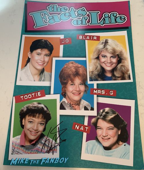 The FActs of life poster signed by Kim Fields and Charlotte Rae autograph