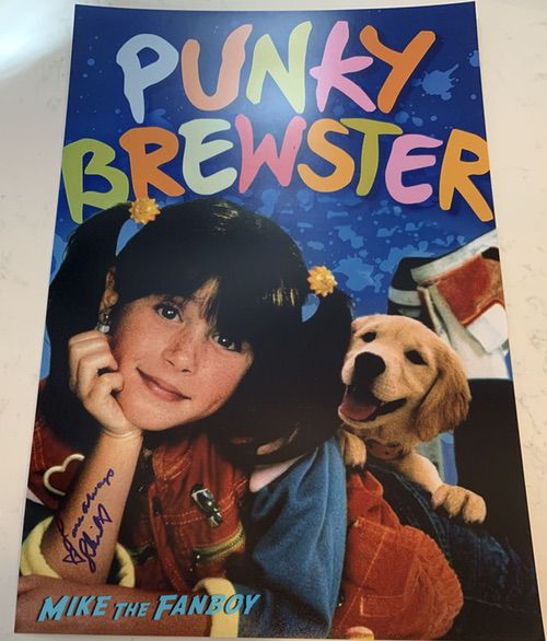 Soleil Moon Frye signed punky brewster poster autograph