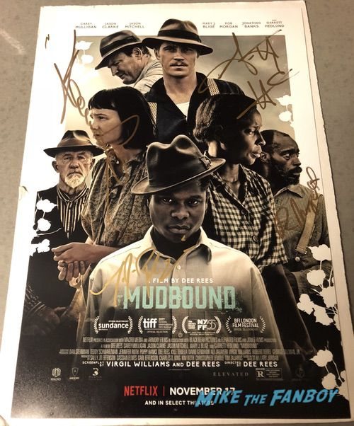 Mudbound poster signed autograph mary j blige jason clarke
