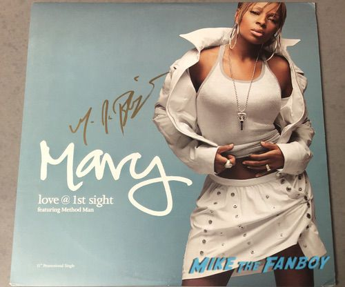 Mary J Blige signed autograph LP rare signed