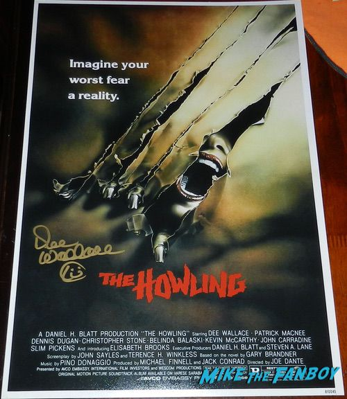 Dee Wallace signed autograph the howling poster