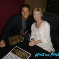 Dee Wallace with fans signing autograph cujo