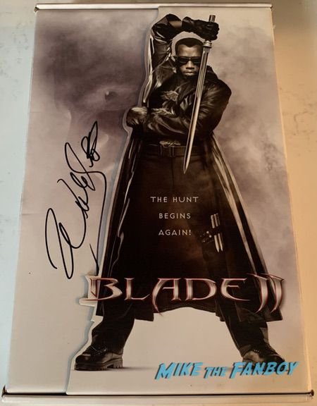 wesley snipes signed autograph blade II counter standee stand display