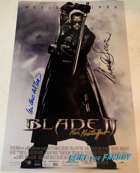 wesley snipes signed autograph blade II poster