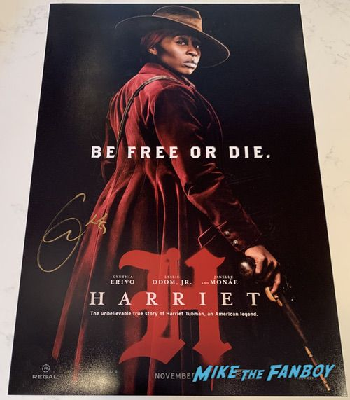 Cynthia Erivo signed harriet poster