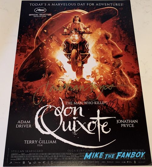 Adam Driver signed the man who killed don quixote Poster