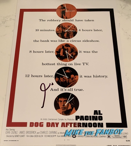 Al Pacino Signed Autograph dog day afternoon poster PSA 0000