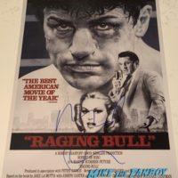 Robert De Niro Signed Autograph Raging Bull poster PSA 0002
