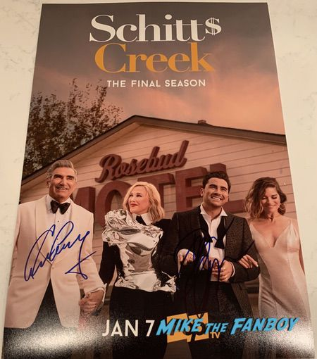 Schitt's Creek signed autograph final season poster