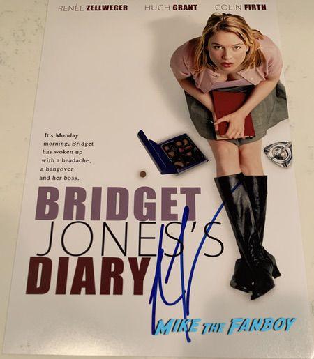 Renée Zellweger signed autograph bridget jones poster