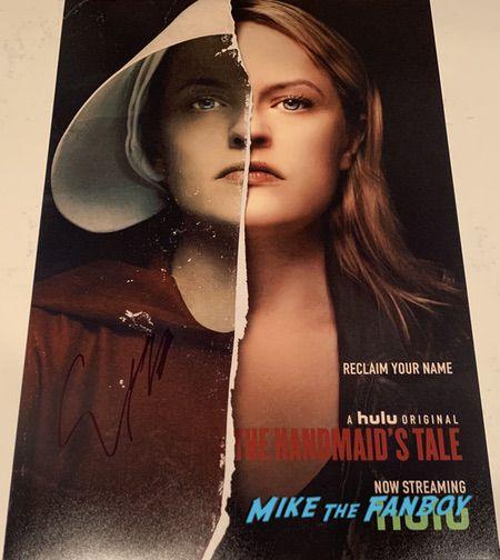 elisabeth moss signed autograph handmaid's tale poster