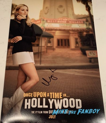 Margot Robbie Signed Once Upon a Time In Hollywood poster