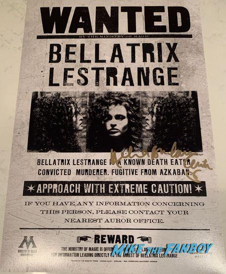 Helena Bonham Carter signed autograph bellatrix le Strange poster wanted