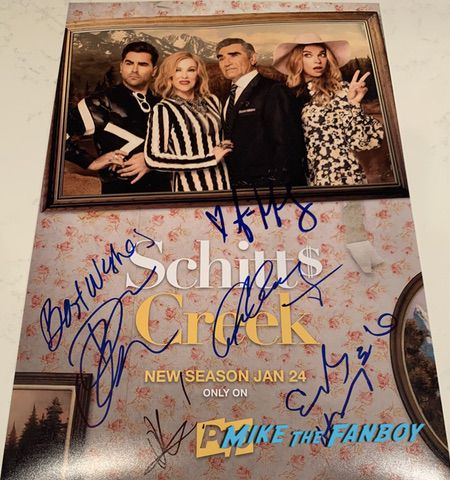 Schitt's Creek signed autograph season three poster