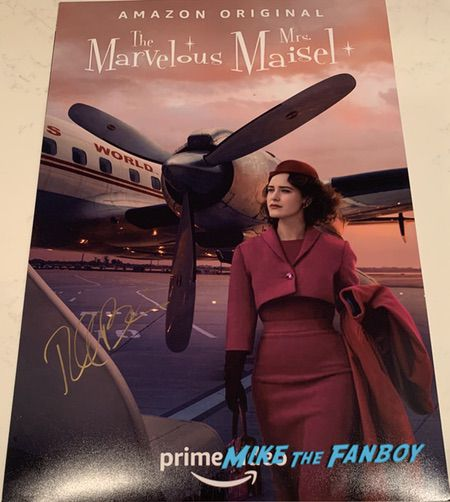Rachel Brosnahan signed Mrs Maisel poster season three