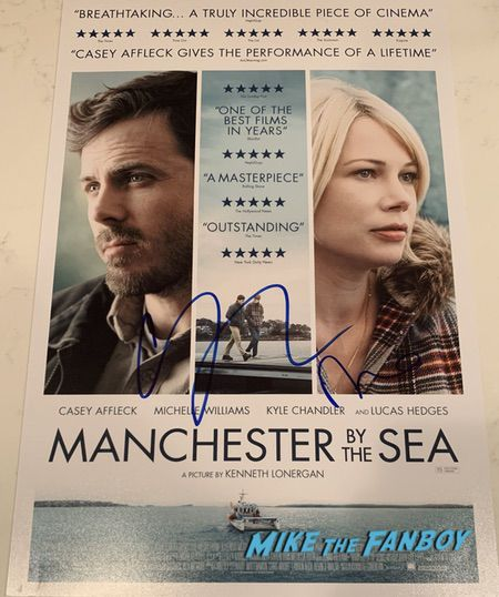 Michelle Williams signed autograph manchester poster