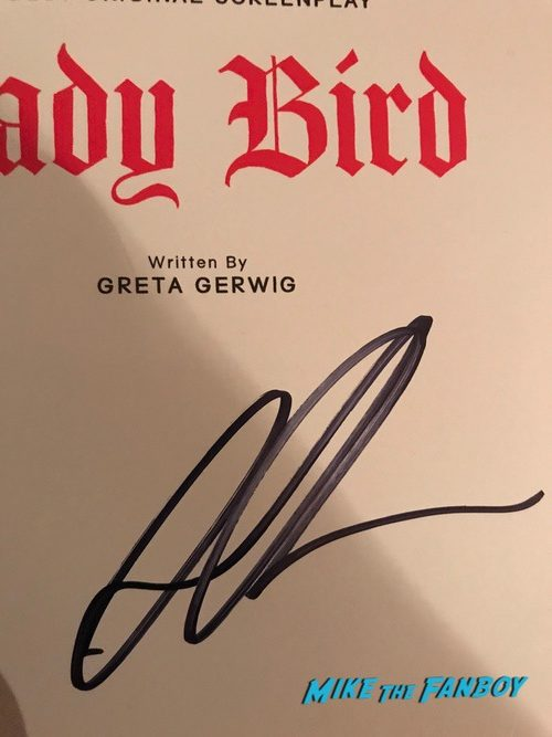 Saoirse Ronan and Gretta Gerwig signed autograph lady bird book