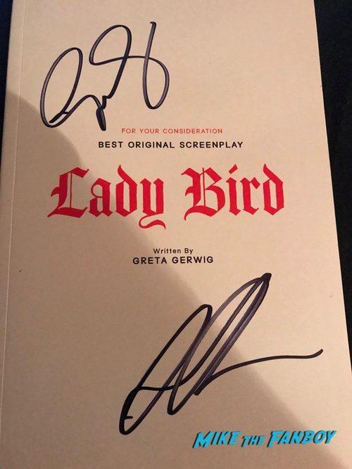 Saoirse Ronan and Gretta Gerwig signed autograph lady bird book