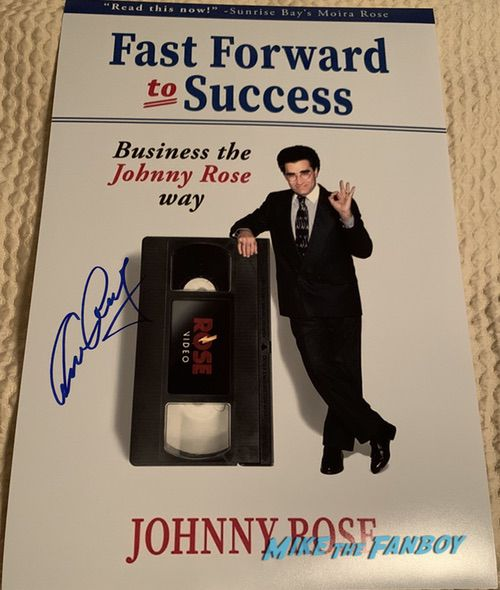 Eugene Levy signed autograph fast forward to success schitt's creek book cover