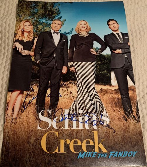 Eugene Levy signed autograph schitt's creek cast poster signature
