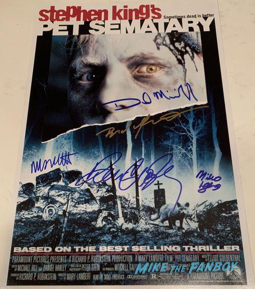 Pet Sematary poster signed autograph dake midkiff mary lambert miko hughes