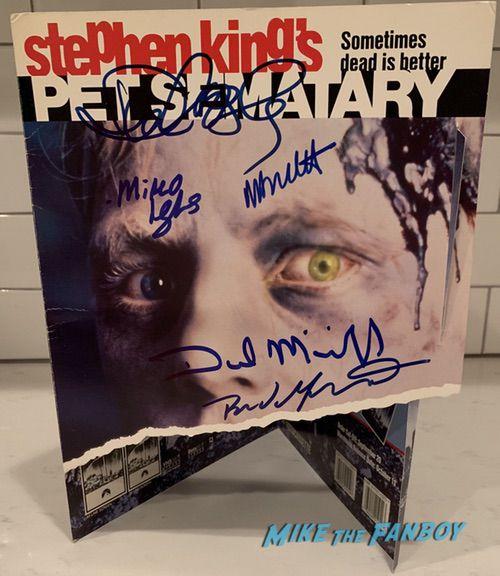 Pet Sematary counter stand standee signed autograph dake midkiff mary lambert miko hughes