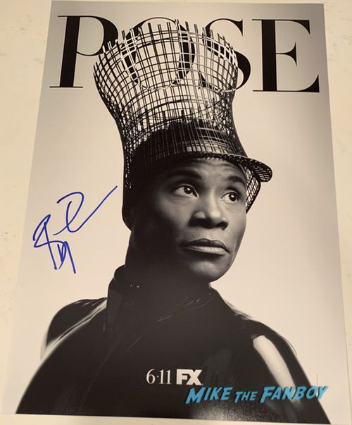 billy porter signed autograph poster
