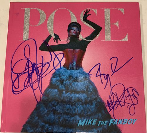 Pose FYC signed autograph press book indya moore mj rodriguez