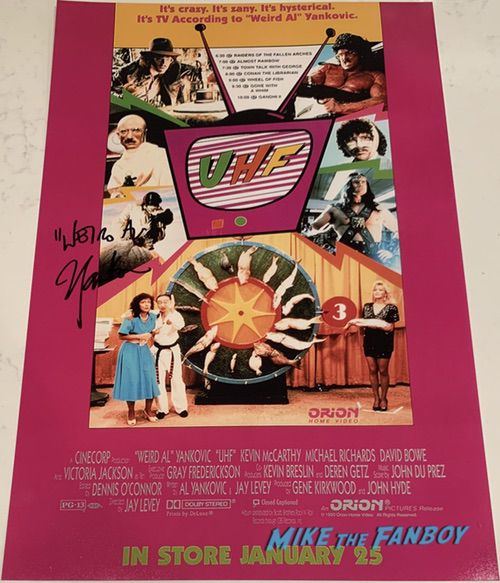 Weird Al Yankovic signed autograph UHF poster