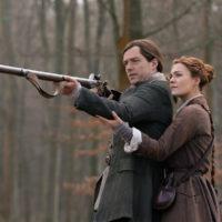 Richard Rankin as Roger MacKenzie and Sophie Skelton as Brianna Fraser MacKenzie - Outlander Season 5 Episode 2