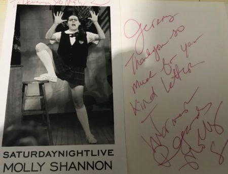Molly Shannon Fanmail TTM Autograph