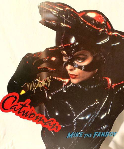 Michelle Pfeiffer signed autograph catwoman standee batman returns poster