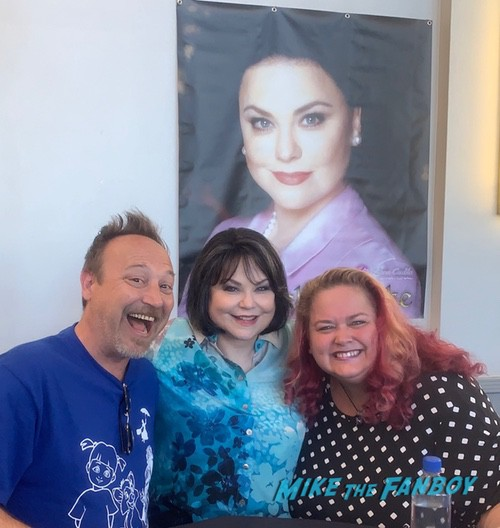 Delta Burke with fans signing autographs now 2020
