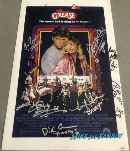 grease 2 signed autograph poster michelle pfeiffer pamela adlon