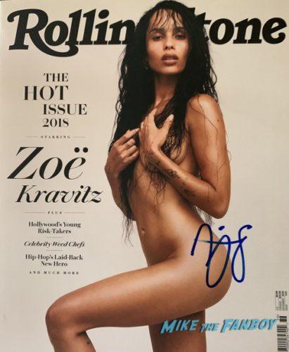 zoe kravitz Signed autograph rolling stone magazine