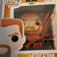 Michael Cudlitz signed autograph the walking dead funko pop abraham 0000