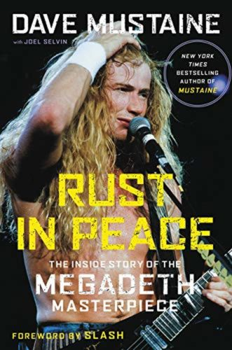 Dave Mustaine signed book